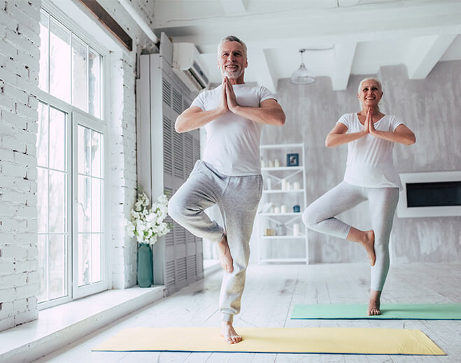 Couple Doing Yoga